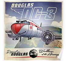 "WINGS Series ""DC-3"" Poster"