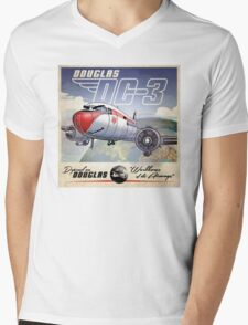 "WINGS Series ""DC-3"" Mens V-Neck T-Shirt"