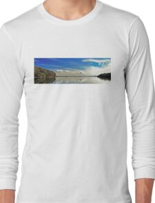 White Cloud Reflections Landscape. Long Sleeve T-Shirt