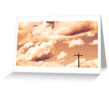 Clouds on a Milky Sunset Greeting Card