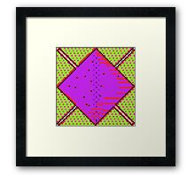 Sci-Fi Diamond Acid Green Framed Print