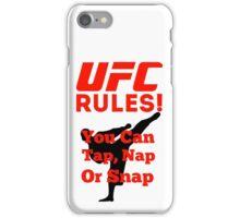 UFC Rules iPhone Case/Skin
