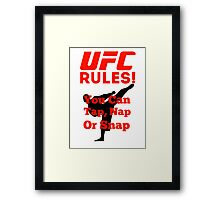UFC Rules Framed Print