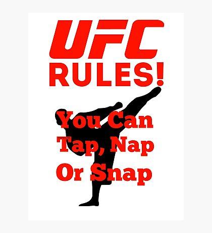 UFC Rules Photographic Print
