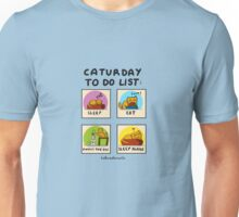 Caturday to do list Unisex T-Shirt
