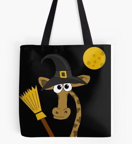 Halloween - giraffe witch  Tote Bag