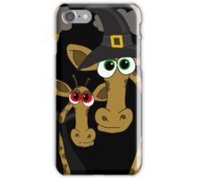 Halloween giraffe party iPhone Case/Skin