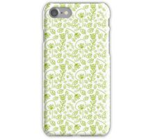 flowers in green iPhone Case/Skin