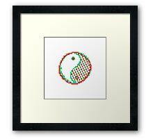 Yin and Yang - Acid Framed Print