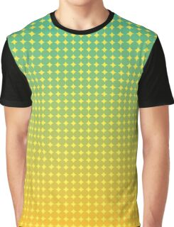Summer Citrus Green Orange Abstract  Graphic T-Shirt