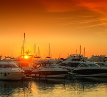 Marina Sunset by manateevoyager