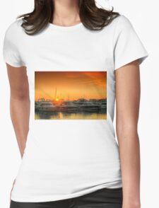 Marina Sunset Womens Fitted T-Shirt