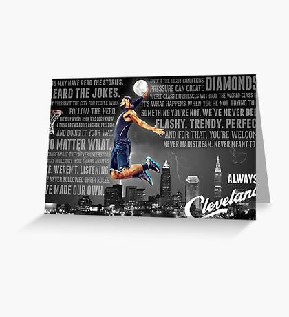 Lebron James Poster Greeting Card