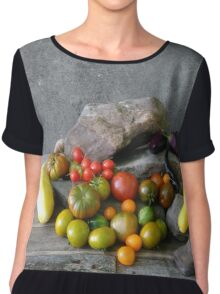 Vegetable composition Chiffon Top