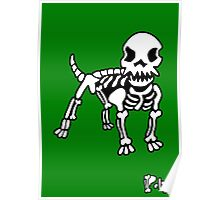 Poly Dog Green Background Poster