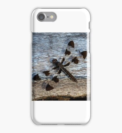 Dragonfly on Dead Log iPhone Case/Skin