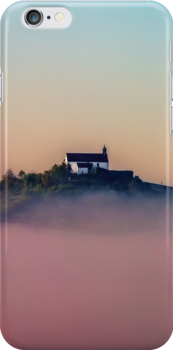Wurmlinger Chapel rising from Early-Autumn Morning Mist by D. & M. Mehl