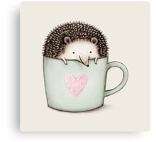 Hedgehog in a Mug Canvas Print