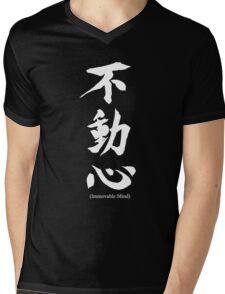 """Fudoshin"" Japanese Kanji Meaning Immovable Mind Mens V-Neck T-Shirt"