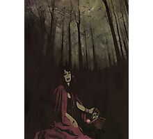 Red Riding Hood - Fangs Photographic Print