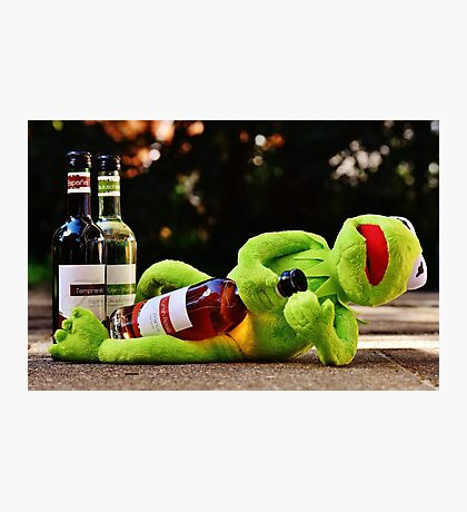 Kermit the Frog Drunk Photographic Print