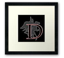 D is for Dragon Framed Print