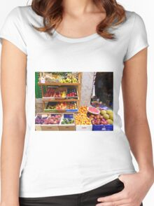 The Fruit And Vegetable Shop Women's Fitted Scoop T-Shirt