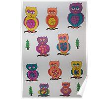Unique Owls Poster