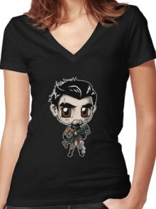 Paladin Danse - Chibi! Women's Fitted V-Neck T-Shirt