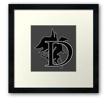 D for Dragon (Simple) Framed Print