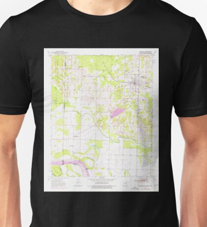 USGS TOPO Map Arkansas AR Foreman 258474 1951 24000 Unisex T-Shirt