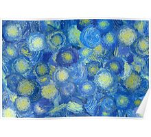 Abstract background in Van Gogh style  Poster