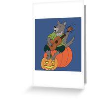 Werwolf Musiker Greeting Card