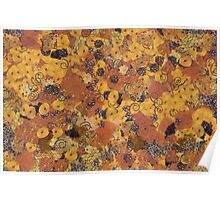 Abstract background in Gustav Klimt style Poster