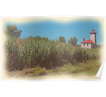 Saginaw River Rear Range Light Poster