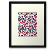 Cool pattern graphic lipstick Framed Print