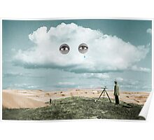 Surveying in the Sahara while it rains Poster