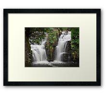 Penllergaer waterfalls Swansea Framed Print
