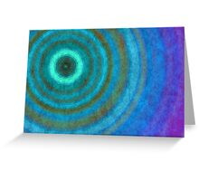Retro concentric background  Greeting Card