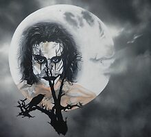 The Crow In the Moonlight by artbynewton