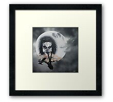 The Crow In the Moonlight Framed Print