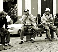 12noon  ?...time for a shave then - Quito, Ecuador, august 2014 by Mike Honour