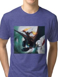 Toothless fighting Tri-blend T-Shirt
