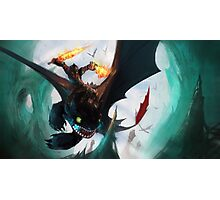 Toothless fighting Photographic Print