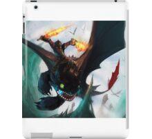 Toothless fighting iPad Case/Skin