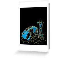 Tron Auto Theft Greeting Card