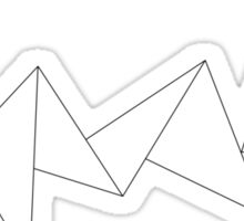 NUAS logo- black Sticker