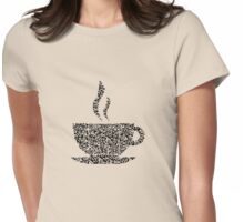 QR Coffee Womens Fitted T-Shirt