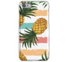Pinapple pattern,fruit,food hipster,modern,trendy,stripes,contemporary art iPhone Case/Skin