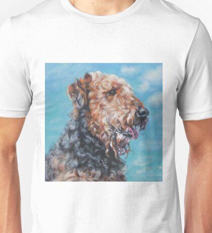 Airedale Fine Art Painting Unisex T-Shirt